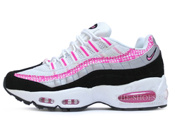 Кроссовки Женские Nike Air Max 95 White Pink Black