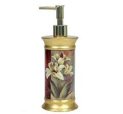Дозатор для жидкого мыла Blonder Home Tulip & Lily