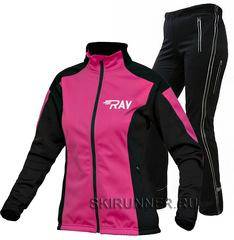Утеплённый лыжный костюм RAY Pro Race WS Run Pink-Black  женский