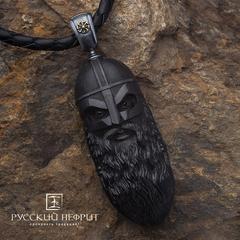 Подвес Перун. Чёрный нефрит, серебро.