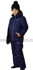 Детский теплый прогулочный лыжный костюм Nordski Premium Navy