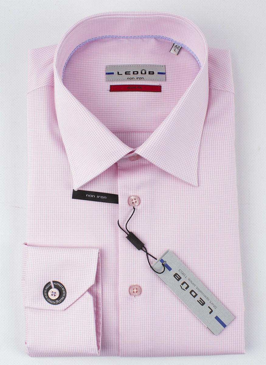Рубашка Ledub slim fit 0136743-430-000-000-SF-Pink