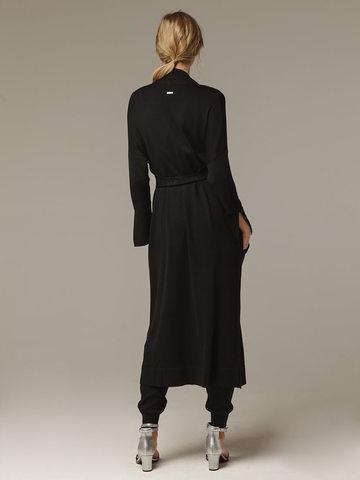 Черный кардиган из струящегося шёлка с кашемиром - фото 2
