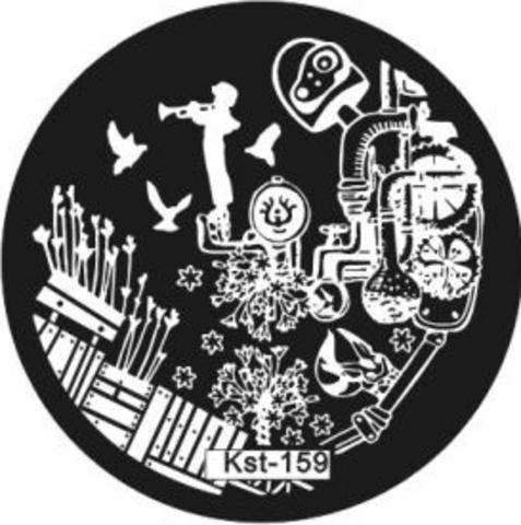ЭК Плитка для стемпинга диск Kst-159