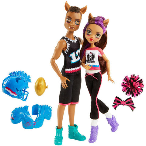 Набор из 2 Кукол Монстер Хай Клодин Вульф и Клод Вульф (Clawdeen Wolf & Clawd Wolf) -  Победа Оборотней, Mattel