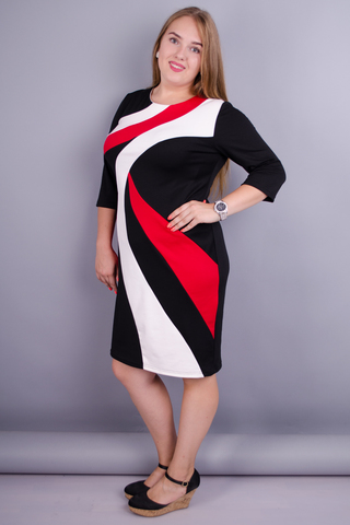 Клавдия. Шикарное платье для женщин плюс сайз. Красный.