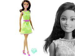 """Кукла Барби """"Модница"""" с кольцом (зеленое платье)"""
