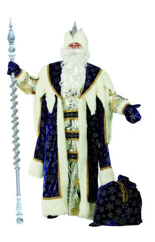 Костюм Дед Мороз Королевский синий