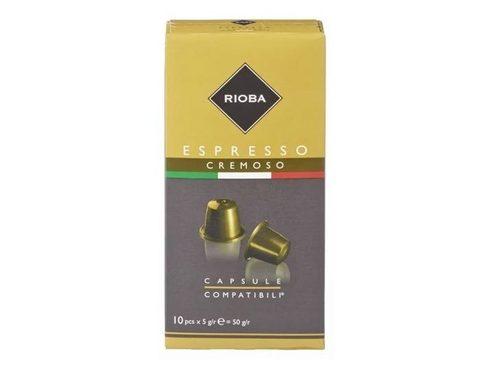 Купить Кофе в капсулах Rioba Espresso Cremoso, 10 капсул для кофемашин Nespresso (Риоба) по цене 270руб в интернет магазине ShopKofe
