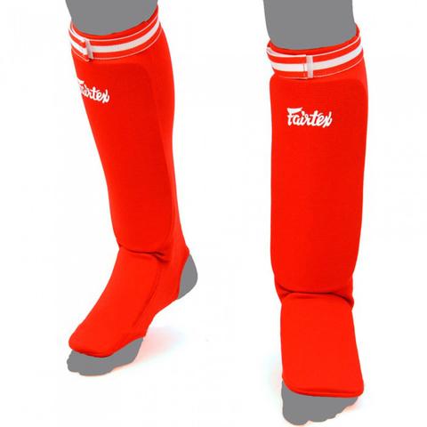Щитки Fairtex Fabric Shin Pads SPE1 Red