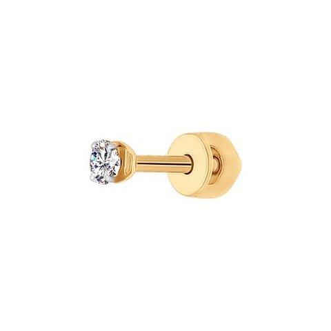 Одиночная серьга-пусет из золота 585 пробы арт.170022 SOKOLOV
