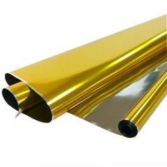 Рулон 0,7 Пленка Металл Золото, 190гр, 70 см*710 см, 40 мкм