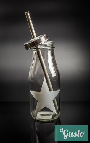 """Бутылка для смузи и коктейлей """"Звезда"""", белая"""