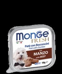 Monge Dog fresh влажный корм для собак c говядиной 100гр.