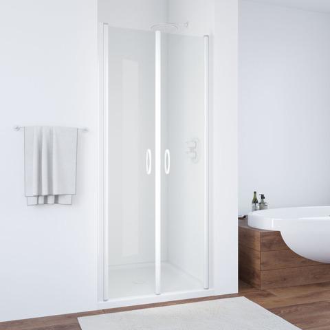 Душевая дверь в нишу Vegas Glass E2P профиль белый, стекло прозрачное