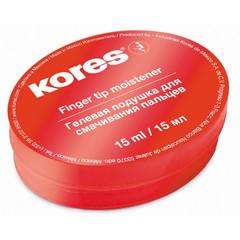 Подушка для смачивания пальцев гелевая KORES 15мл ?32616
