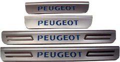 Светящиеся накладки порогов Peugeot 307 (light up)