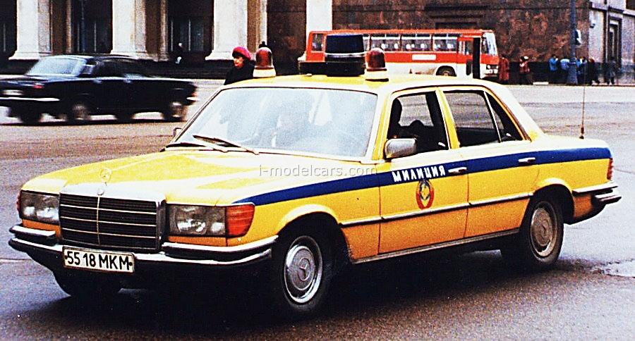 Mercedes-Benz W116 450 SEL Militia Police USSR 1:43 DeAgostini World's Police Car #22