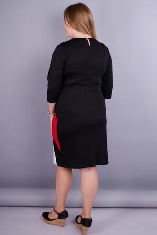 Клавдія. Шикарне плаття для жінок плюс сайз. Червоний.