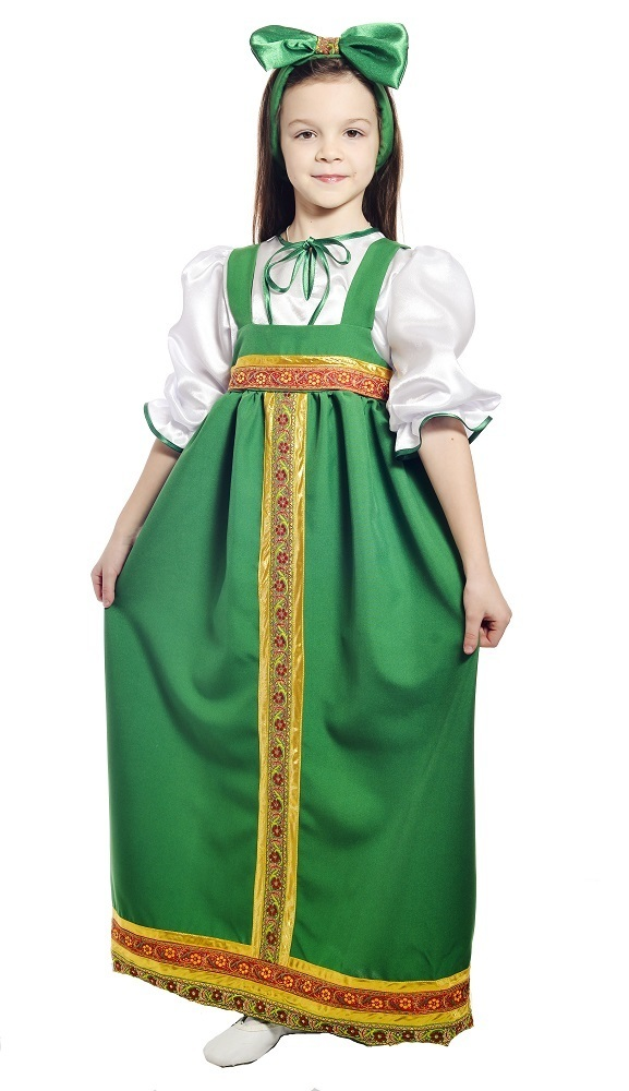 Барыня в зеленом сарафане детский