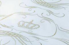 Пододеяльник 155х200 Christian Fischbacher Luxury Nights Crown 709 золотая вышивка