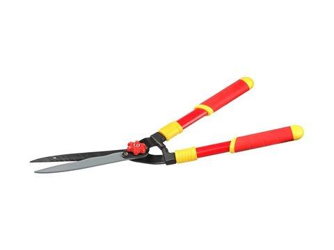 Кусторез GRINDA, стальные ручки, профильные лезвия с тефлоновым покрытием, 550мм