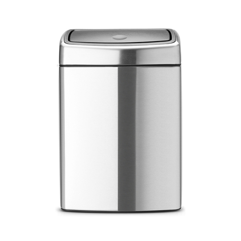 Мусорный бак Brabantia Touch Bin прямоугольный(10л), Стальной матовый (FPP), арт. 477225 - фото 1