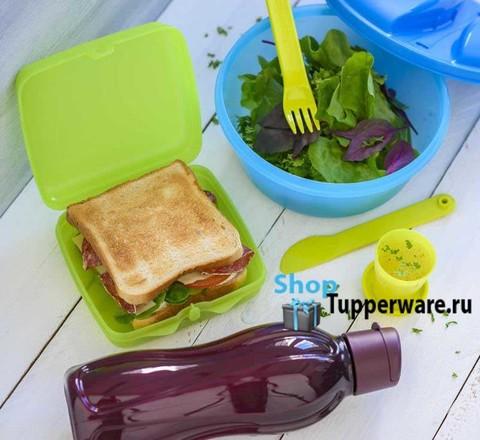ланч-бокс, контейнер всегда с cобой, и эко-бутылка 750мл Tupperware
