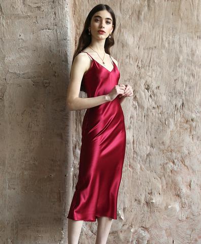 Платье-комбинация Винное