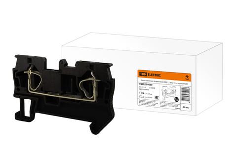 Зажим клеммный безвинтовой (ЗКБ) 1,5 мм2 17,5А черный TDM