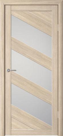 Дверь APOLLO DOORS F16, стекло матовое, цвет лиственница светлая, остекленная