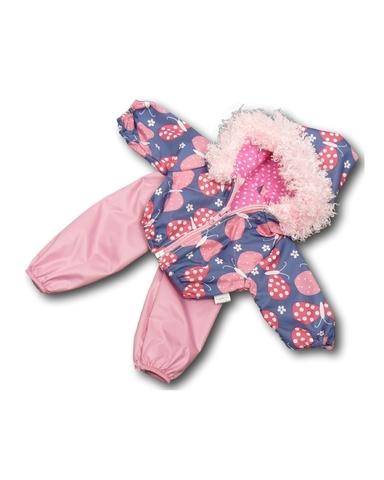 Костюм с курткой c мехом - Розовый. Одежда для кукол, пупсов и мягких игрушек.