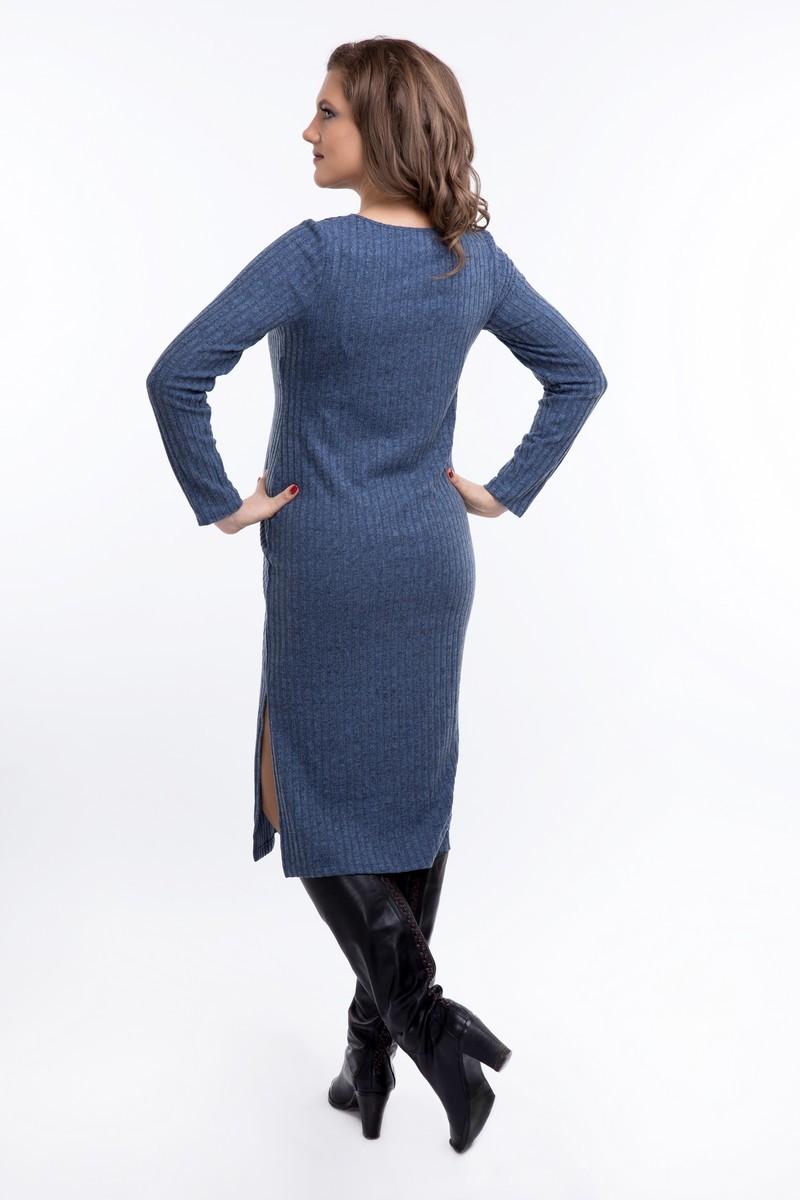 Платье 08921 синий