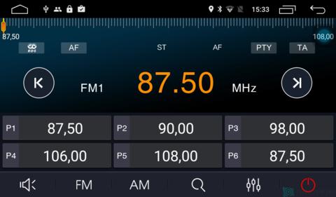 Штатная магнитола 4G/LTE Ford Focus II 05-11 Android 7.1.1 Parafar PF696