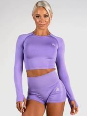 Женский топ Ryderwear Seamless Long Sleeve Crop -Purpple Marle