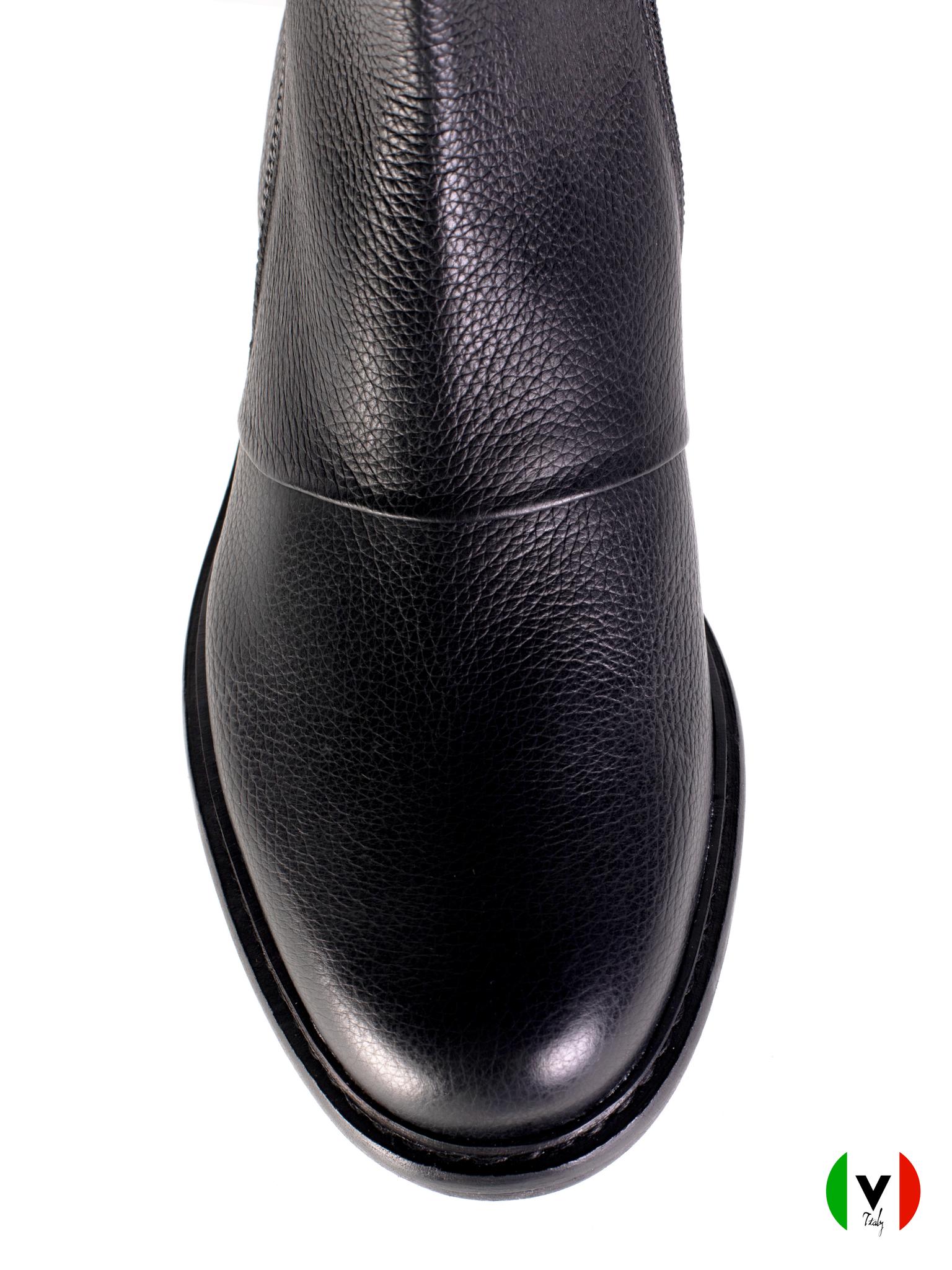 Осенние ботинки Norma J. Baker из кожи 7423, артикул 7423, сезон осень, цвет чёрный, материал кожа, цена 19 500 руб., veroitaly.ru