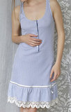Домашнее платье без рукавов Rebecca & Bros