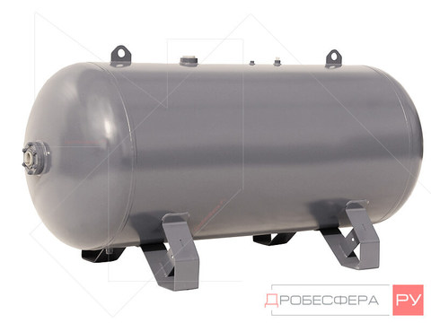 Ресивер для компрессора РГ 500/10 оцинкованный горизонтальный