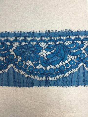 Кружево RM Chantilly Cotton Satin Blue