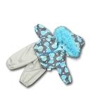 Костюм с курткой c мехом - Бирюзовый. Одежда для кукол, пупсов и мягких игрушек.
