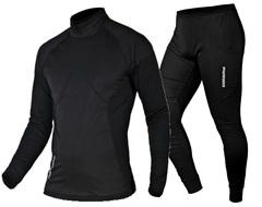 Ветрозащитный комплект термобелья Noname Arctos Underwear Windstopper Black 15 (2000752-2000753)