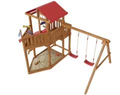 Детская деревянная игровая площадка Ассоль