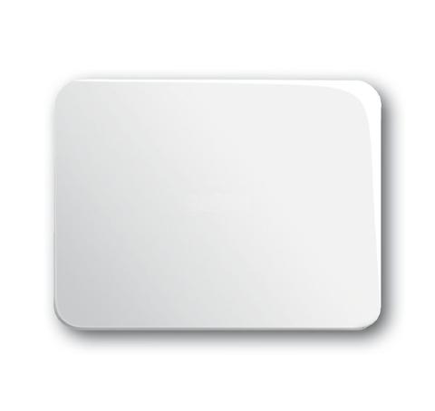 Выключатель/переключатель одноклавишный на 2 направления(проходной). Цвет Белый глянцевый. ABB (АББ). Alpha (Альфа). 1012-0-2110+1751-0-3078