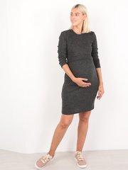 Евромама. Платье-футляр для беременных и кормящих, черный