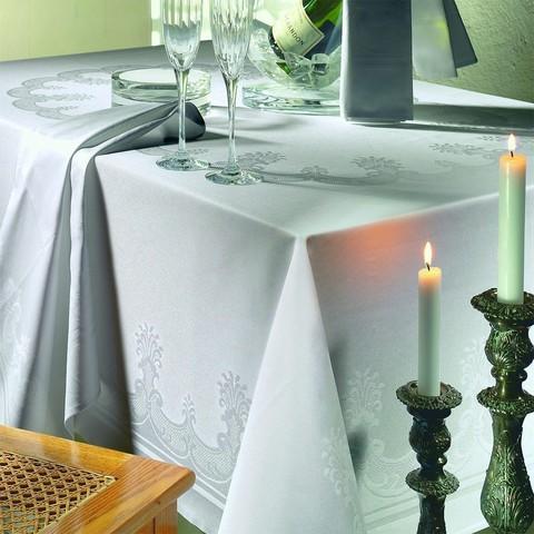 Скатерть овальная 160x220 Curt Bauer Gourmet белая