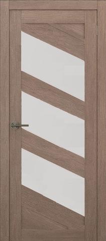 Дверь APOLLO DOORS F16, стекло матовое, цвет орех золотой, остекленная