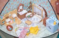 Комплект мебели для ванной комнаты и прачечной Happy family
