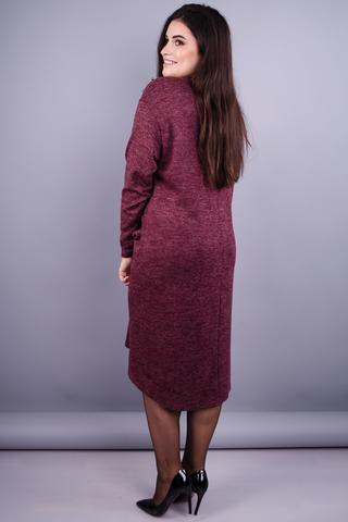 Стиль. Модна сукня великих розмірів. Бордо.
