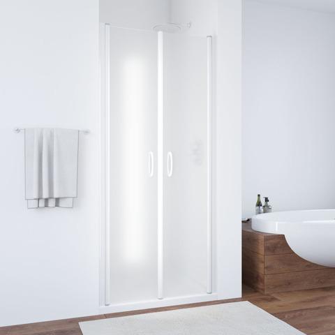 Душевая дверь в нишу Vegas Glass E2P профиль белый, стекло сатин