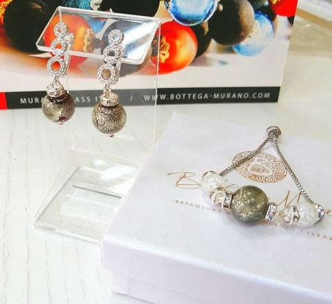 Комплект из браслета и серег со стразами Sandra Ca'D'oro Rubino Silver 456OB